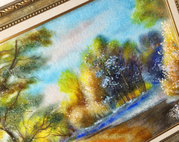 Картина из стекла «Ранняя весна»
