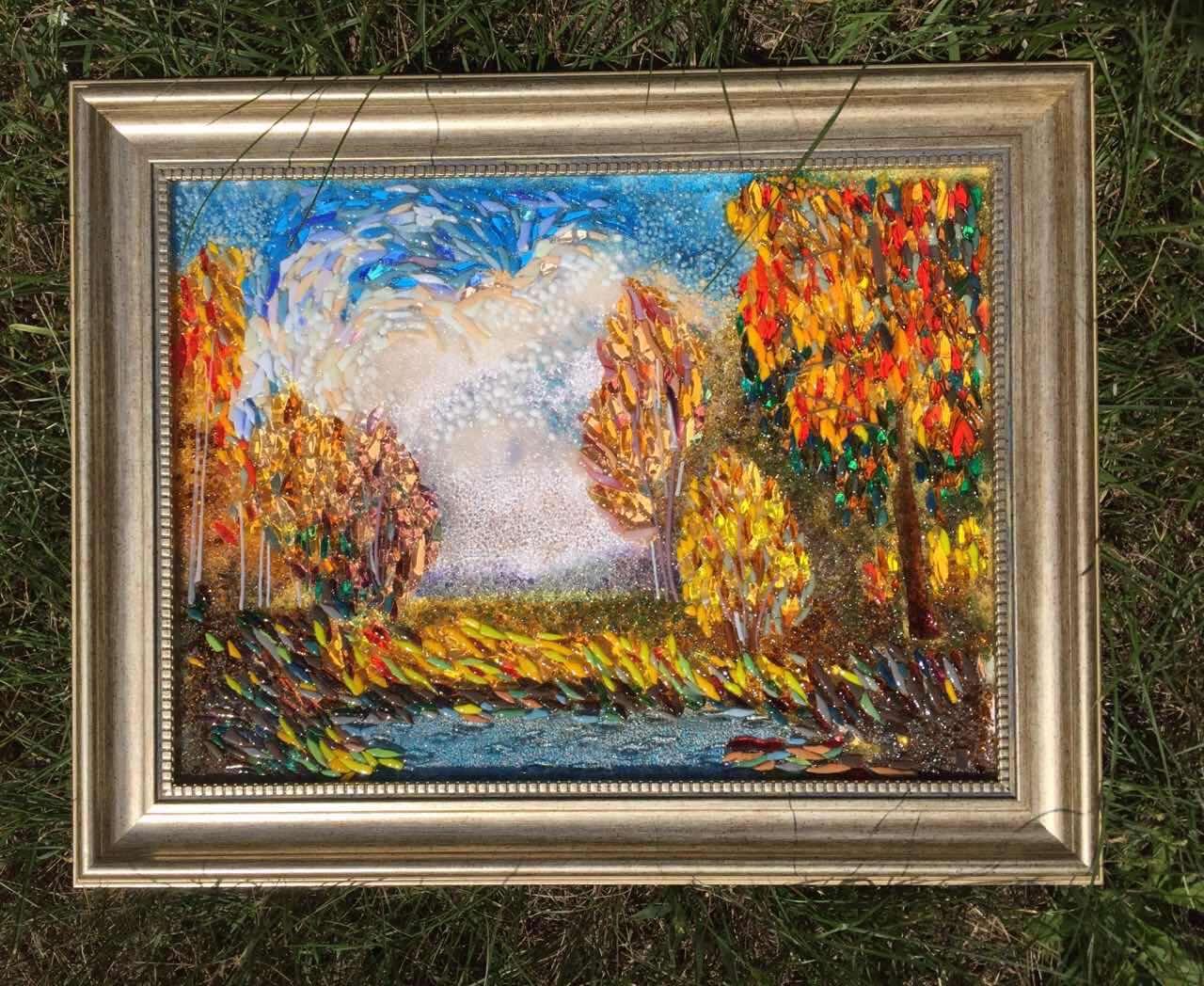 Картина из стекла «Осень»