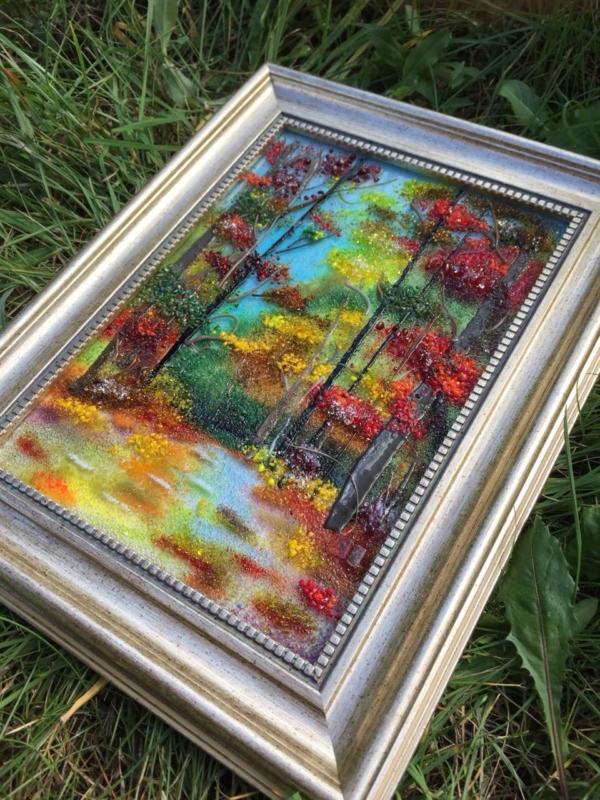 Картина из стекла «Краски осени»