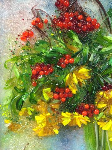 Картина из стекла «Осенний букет»