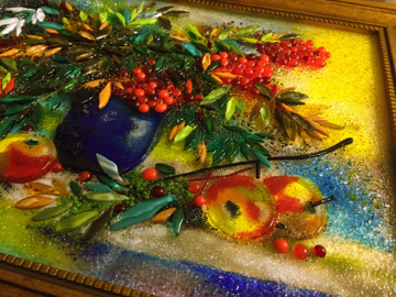 Картина из стекла «Палитра осени»